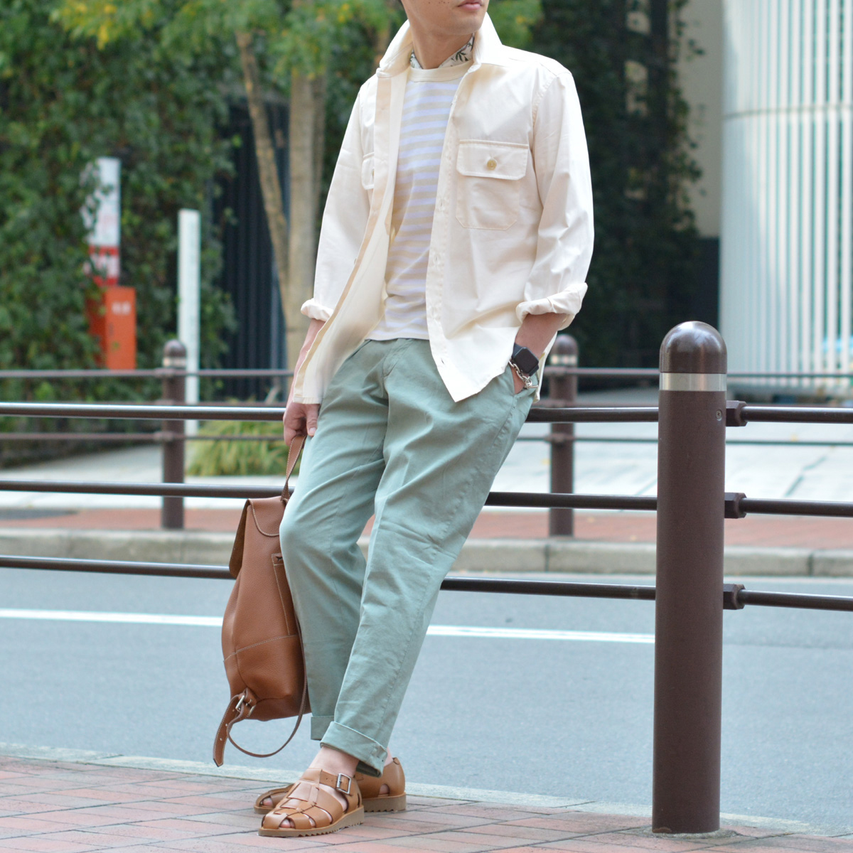 GRENFELL【グレンフェル】ミリタリーシャツ Overshirts Grenfell cloth Offwhite コットン オフホワイト