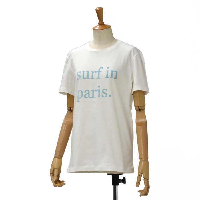 CUISSE DE GRENOUILLE【キュイス ドゥ グルヌイユ】プリントカットソー cotton T-shirt surf in paris WHITE(ホワイト)