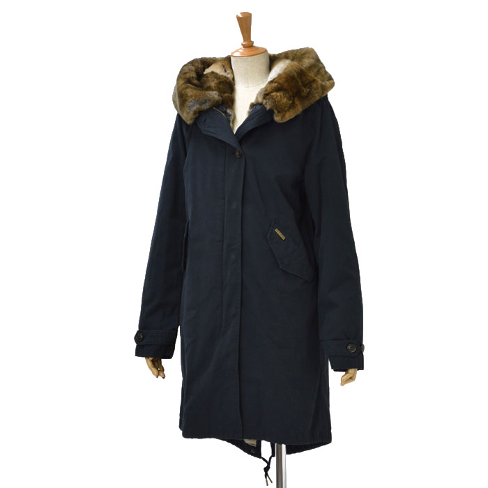 WOOLRICH【ウールリッチ】モッズコート LITERARY REX WWCP2136 WC60 115 polyester CLASSIC NAVY(ネイビー)