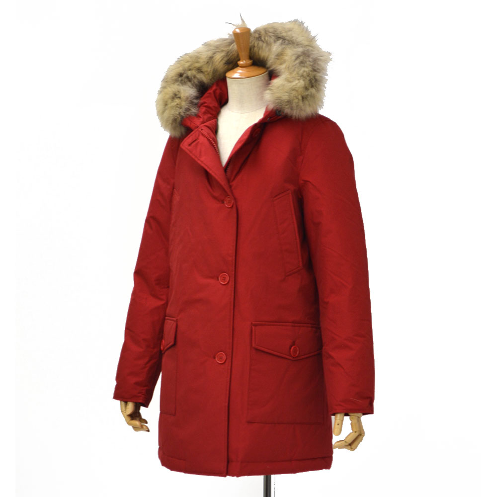 WOOLRICH【ウールリッチ】ダウンコート ARCTIC PARKA sagafurs  WWCP2306 CN02 001 cotton nylon RED(レッド)