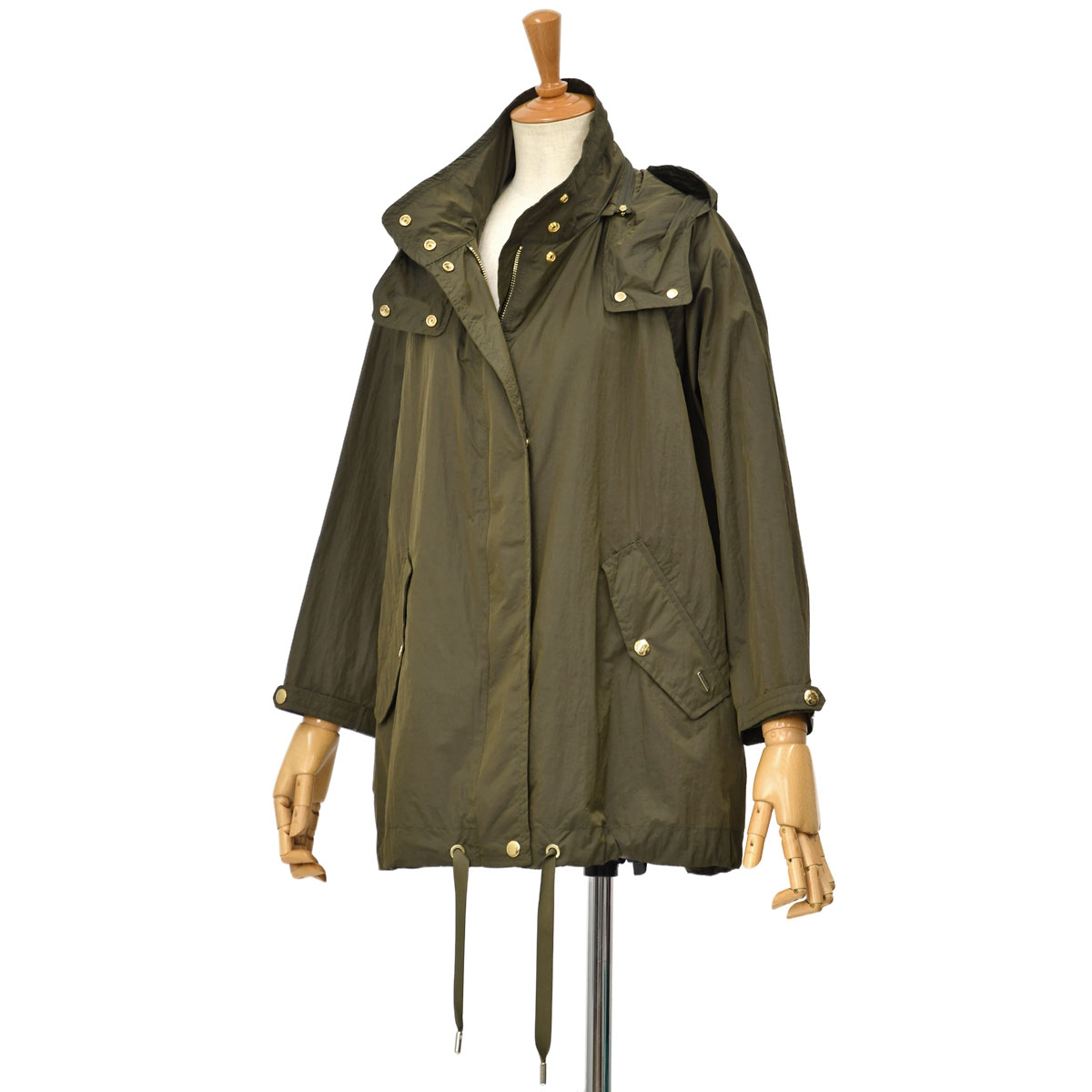 WOOLRICH【ウールリッチ】フーデッドコート ANORAK WWOU0465 6291 ARMY OLIVE ナイロン カーキ