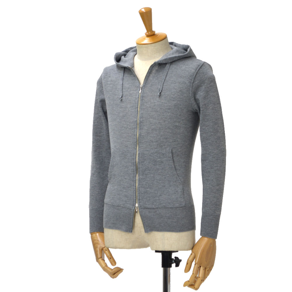 Letroyes【ルトロア/ルトロワ】Wジップアップパーカー SWEAT ZIP UP PARKA wool GRIS(ウール グレー)